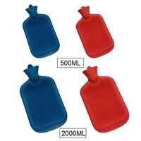 2000/250ML Hot-water Bag Classic Rubber Hot Water Bottle Hand Bag Warming in Winter 1pcs