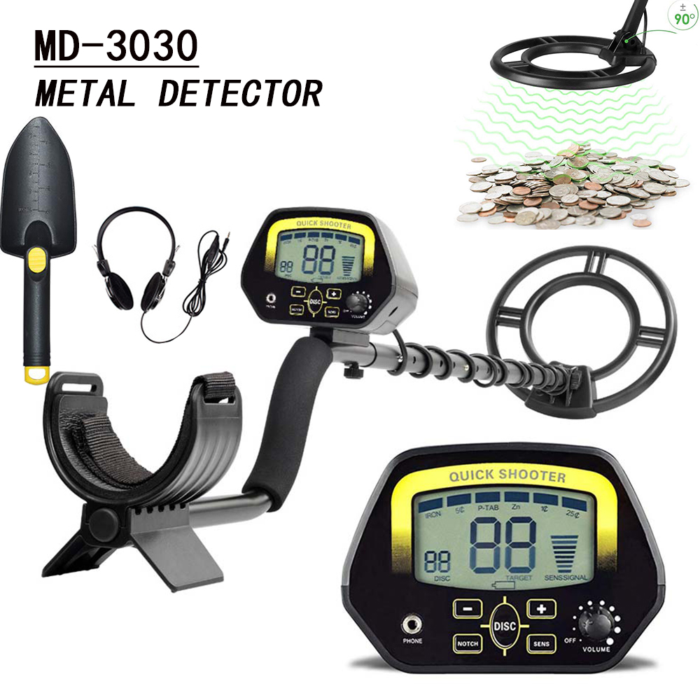 Горячее предложение! Профессиональное подземный детектор металла MD3030 металлический Искатель Золота Детектор Охотник за сокровищами золот...
