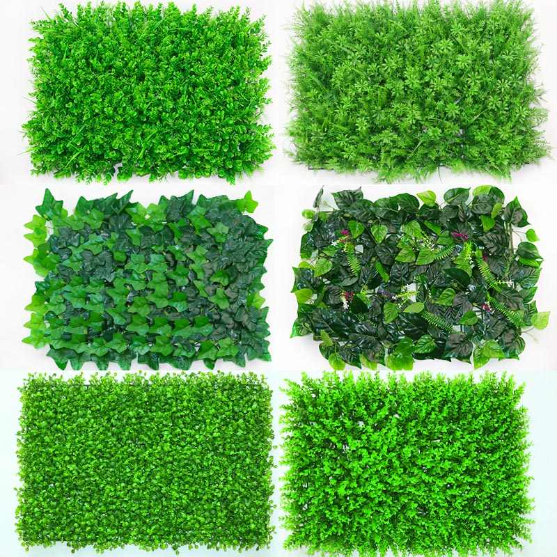1pc 40*60cm Artificial Grasses Plants Wall Fake Lawn Faux Creepers Leaf Grass Blossom Artificial Foliage for Home Garden Decor