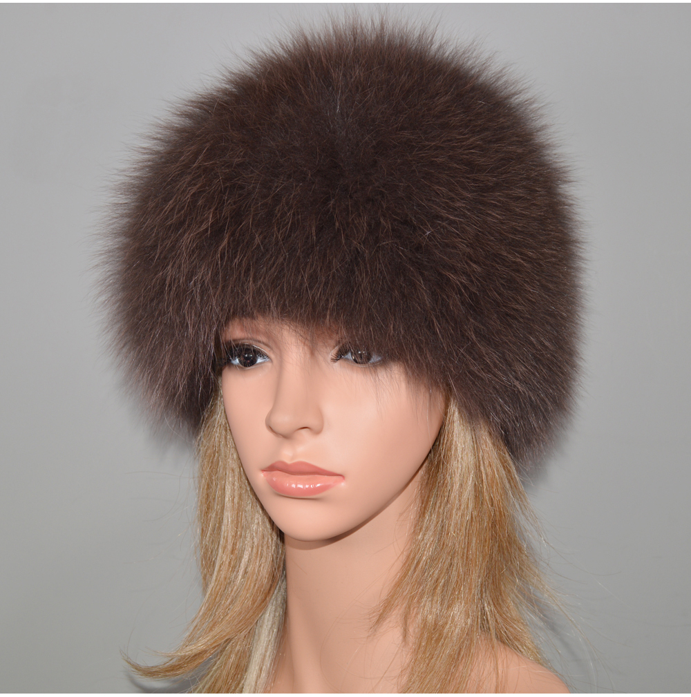 H0830b306709643018e6bba03ef3392abm - New Luxury 100% Natural Real Fox Fur Hat Women Winter Knitted Real Fox Fur Bomber Cap Girls Warm Soft Fox Fur Beanies Hats