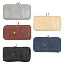 57BF Car Sun Visor Organizer Registration Document Holder Personal Belonging Storage Pouch Auto Interior Accessories