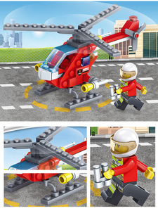 Image 5 - Yukala 348 pçs carro de combate a incêndios helicóptero barco modelo blocos de construção cidade bombeiro figuras caminhões tijolos criança
