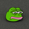 Pepe กบเข็มกลัด Pin Sad ตลก Kermit เครื่องดื่มเบียร์พีระมิดสีเขียว Enamel Badge สัตว์ยอดนิยมเครื่องประดับรู้สึกดี Bad Man ขายส่ง