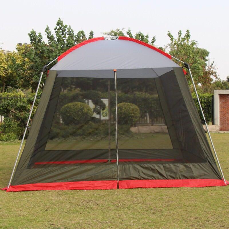 High Quality 300*300*210CM Ultralarge 4-8person Family Party Gardon Beach Camping Tent Gazebo Sun Shelter