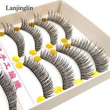 LANJINGLIN 10 пар Модный инструмент для макияжа накладные ресницы натуральные длинные мягкие Накладные ресницы реснички ресницы# XSR-20