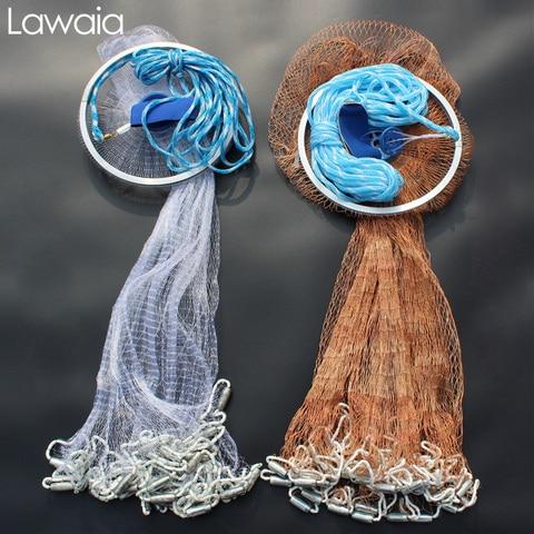 lawaia mao jogar redes de pesca voar rede de fundicao pequena malha com cascos captura