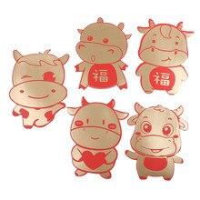5 pièces enveloppe rouge chinoise créative Hongbao nouvel an printemps Festival anniversaire