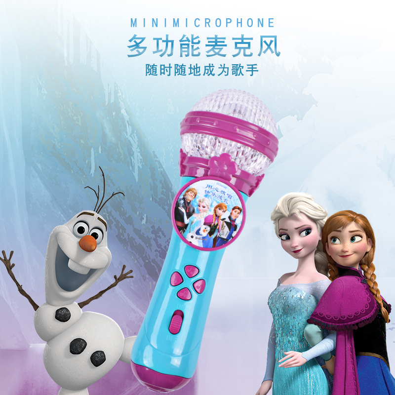 Disney Girls Princess Frozen 2 Singing Microphone  Toys Music Microphone Amplified Baby K Song Girl Toy