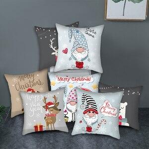 Fuwatacchi Cute Animal Pattern Cushion Cover Cartoon Christmas Style Pillow Cover Home Sofa Car Decorative Throw Pillowcase