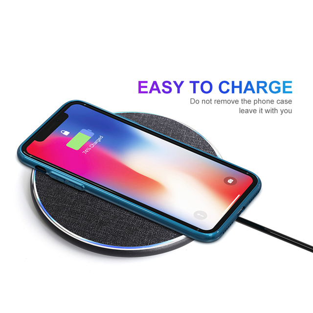 HEYPOD Wireless Charger For iPhone 11 X XR 8 plus 10W QC Fast Wireless Charging For Samsung S9 S10 S8 Note 7 8 9 USB Charger Pad 4