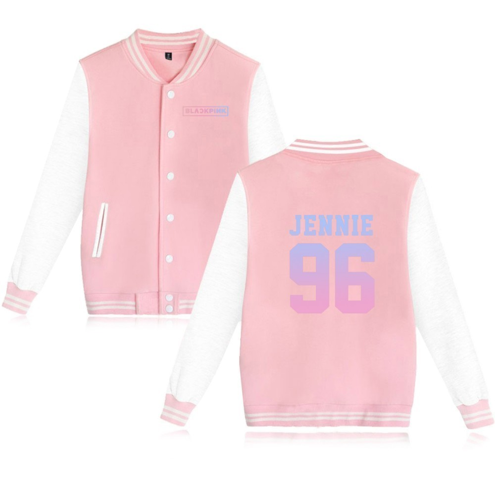 Kpop Blackpink Women Hoodies Sweatshirts ROSE LISA JISOO Baseball Jackets Autumn Fashion Patchwork Color Casual Jacket Women