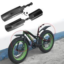 2pcs Quick Release Bicicleta Da Neve Lama Dianteiro Traseiro Guarda Fender Bicicleta de Gordura para 26 Polegada Fatbike Bicicletas MTB Ciclismo bicicleta Defensas