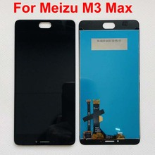 Original lCD AAA tested New 6.0 Full LCD Display +Digitizer Touch Screen Glass Replacement Parts For Meizu M3 Max Meilan Max