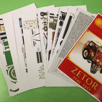 1:32 DIY Czech Zetor 7745-7211 Tractor Card Model Building Sets Agricultural Model Machinery Educational Manual Toy Car R3I4 image