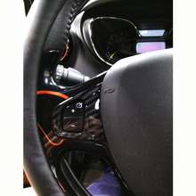 For Renault Captur 2013-2018 ABS Carbon fibre Car Steering wheel Button frame LHD Interior Cover Trim styling accessories 2pcs zxmt 2pcs carbon fiber interior steering wheel button frame cover for toyota camry 2018 accessories