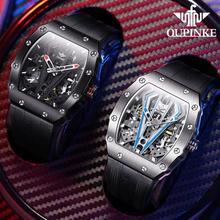 Oupinke Skeleton Horloges Mechanische Automatische Horloge Mannen Sapphire Sport Klok Merk Luxe Mode Polshorloge Mannen Relojes Hombre