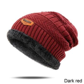 High Quality Men's Winter Hat Cotton Thicken Winter Warm Beanies hat For Men Fashion Unisex Knitted Hats Bonnet