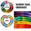55 шт./105 шт. разноцветные нити для вышивки крестом, нить для шитья для женщин, инструмент для шитья своими руками HH3