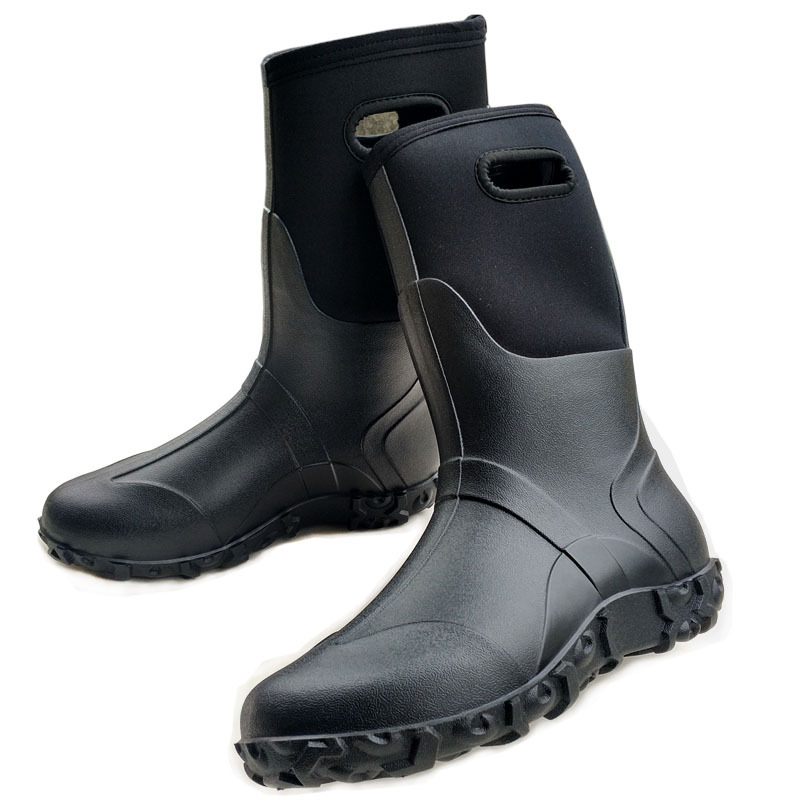 Fishing Footwear Outdoor Waterproof Boots Snow Boots Men's Insulated Work Boots Men's Classic Tall  Rain Boot  Rubber Boots