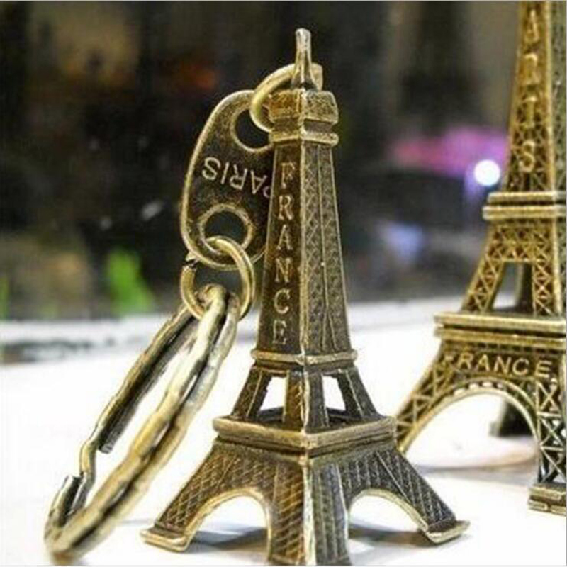 1PC Cute Metal Tower Paris Tower Keychain Key Holder Key Ring Women Bag Charm Pendant Gift French Souvenir