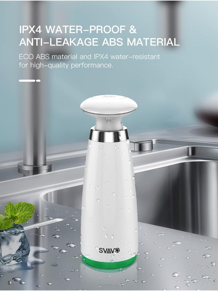 H08322e9114934c0082dd4cd1e1cafaf6O 350ml Automatic Soap Dispenser Hand Free Touchless Sanitizer Bathroom Dispenser Smart Sensor Liquid Soap Dispenser for Kitchen