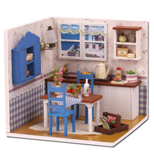 Doll house model toys role play elegant house  furnishing Warm Coffee Times room children toys kids educational toys doll house model toys role play elegant house furnishing warm time room children toys kids educational toys