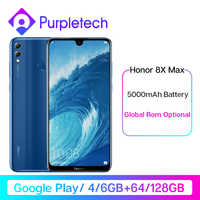 Original Honor 8X Max Google Play Mobilephone 7.12'' big Screen Octa Core Fingerprint ID 5000mAh Android 8.1 OTA Update