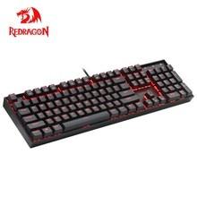 Redragon Mitra K551 USB mekanik oyun klavye mavi anahtarı DIY 104 anahtar arkadan aydınlatmalı PC Gamer rus klavye tuşları veya İspanyolca Sticker