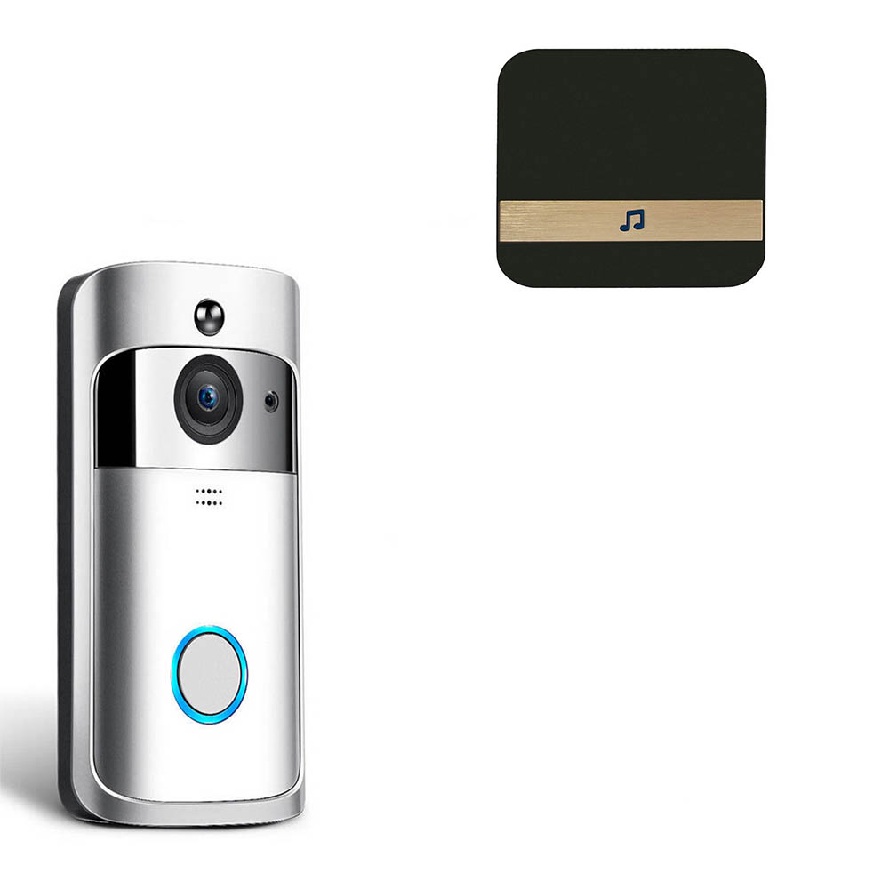 6pcs Wireless Video Doorbell Camera WiFi Video Doorbell 720P Home Security Camera Real-Time Two-Way Audio Night Vision PIR