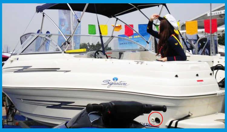 Nylon Nhựa Thru Thân Tàu Bilge Hợp Với Viền Thép Không Gỉ Bilge Pump Máy Sục Khí Vòi Thuyền Mềm Du Thuyền Buồm RV Phụ Kiện