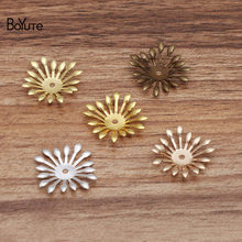 BoYuTe (100 Pieces/Lot) Diy Hand Made Materials Wholesale 25MM Metal Copper Stamping Flower Bead Caps Jewelry Accessories