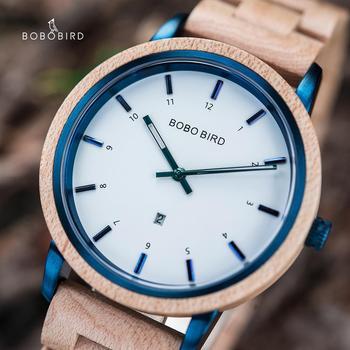 BOBO BIRD Wood Quartz Watch Women lady Wristwatches uhren herren zegarek meski Customize Private Label Waterproof Dropshipping - discount item  50% OFF Men's Watches