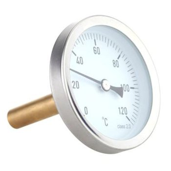 63mm horizontal thermometer aluminum temperature dial indicator 0-120°C thermocouple bimetal