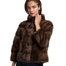 FUR Coat Jacket Woman Mink-Fur TOPFUR Natural Luxuriou Long Fashion Warm Autumn Outwear