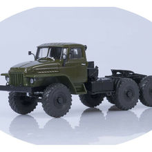 NEW EAC AUTOHISTORY 1 43 URAL 377C 6X4 TRIPLE TRUCKER 1965 DARK GREEN Diecat tractor for collection gift