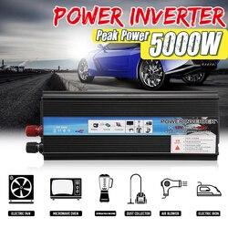 Xe INVERTER 12 V/24 V 220V 5000W Công Suất Đỉnh Inverter Biến Đổi Điện Áp Convertor Sóng Sin Inversor 12 V/24 V 110V