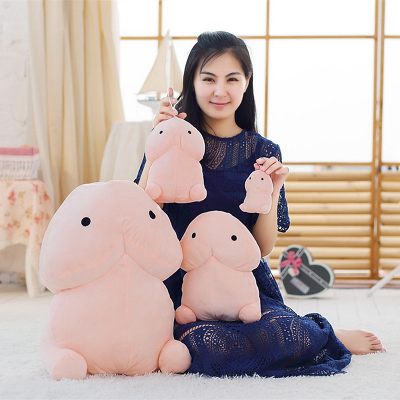 Creative Plush Penis Dick Toys Soft Stuffed Funny Plush Simulation Penis Dolls Gift For Girlfriend Genitals Pillow Cushion Gift
