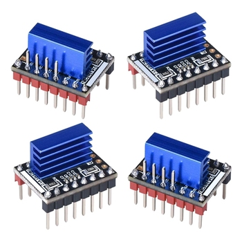 4PCS TMC5161 V1.0 Stepper Motor Step Stick Mute Silent Driver Support SPI with Heatsink for 3D Printer Control Board