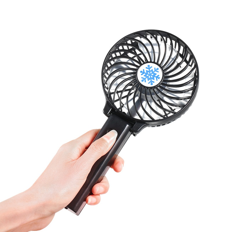 Foldable Hand Fans Battery Operated Rechargeable Mini Fan Air Circulator Electric Personal Fans Hand Bar Desktop Cool Fan