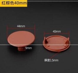 027 Closure Cap Plastic Plug Round Plug Cover Ugly M8 Hole Plug Cover Hole Closet Black And White Cap 35mm
