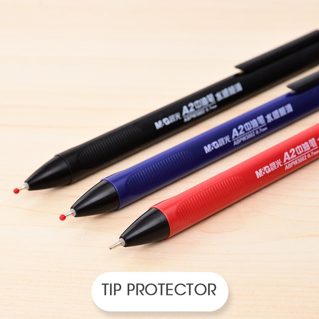 Фото супергладкая масляная шариковая ручка m & g 07 мм нержавеющая
