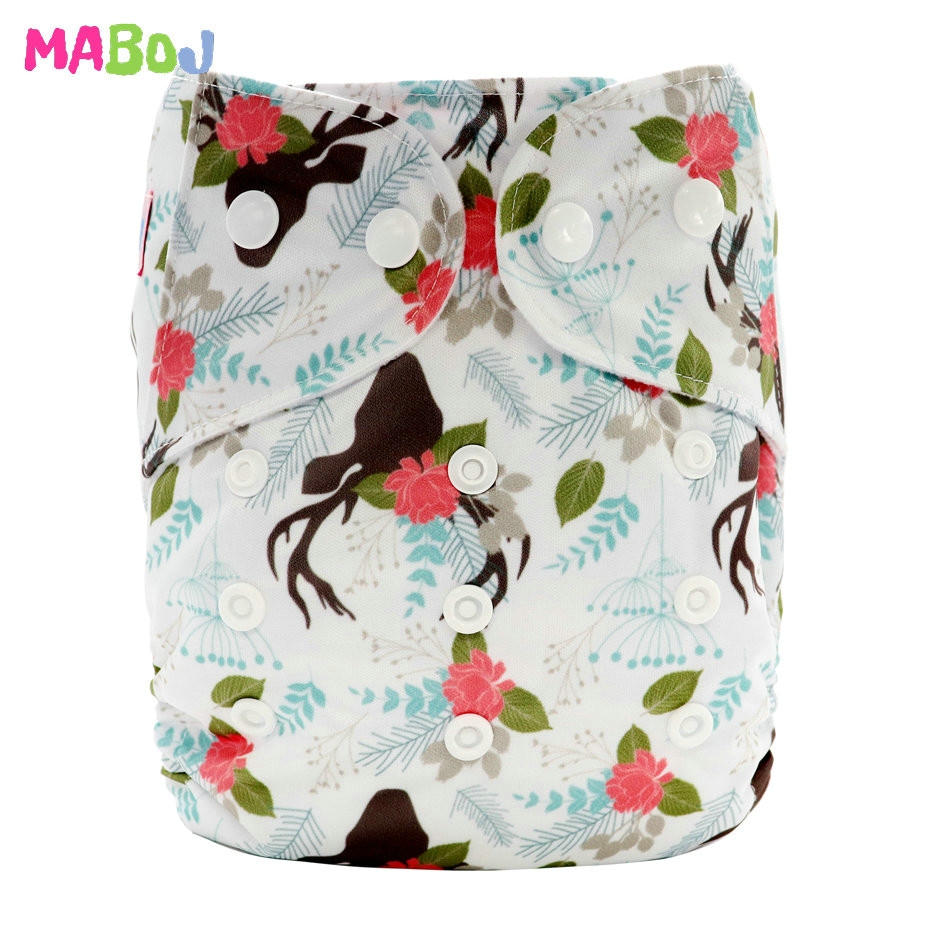 MABOJ Diaper Baby Pocket Diaper Washable Cloth Diapers Reusable Nappies Cover Newborn Waterproof Girl Boy Bebe Nappy Wholesale - Цвет: PD5-5-31