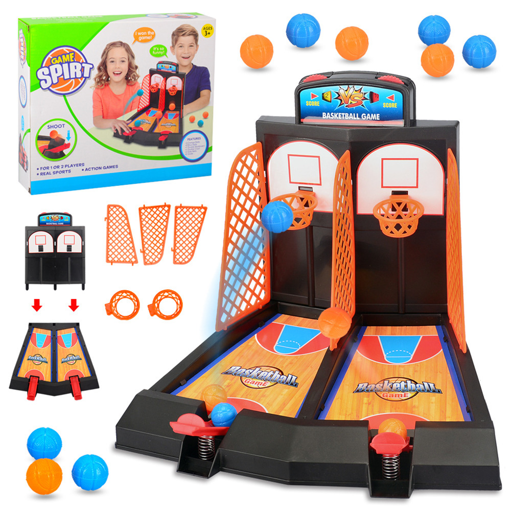 Desktop Basketball Mini Finger Basket Toy Sports Child Table Games Double Play Interaction Educational Toys For Children Gift#30