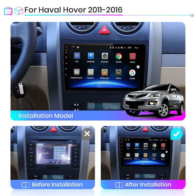 Junsun V1 2G + 32G Android 10 Auto Radio Multimedia Video Player Navi Gps Voor Haval Hover Grote muur H5 H3 2011-2016 2din