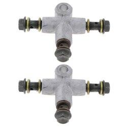 2 sztuk hydrauliczny wąż hamulcowy linii T sztuka sprzęgła Plug 3 Way Adapter układu hamulcowego