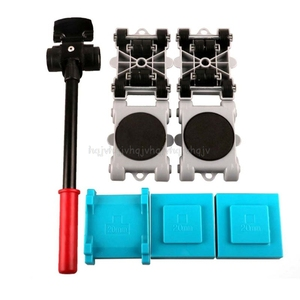 Image 1 - 8pcs Furniture Mover Tool Set Transport Shifter Lifter Wheel Heavy Stuffs Moving D23 19 Dropship