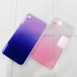 Image 2 - Vidro temperado De Metal Gradiente Colorido Transparente Rígido Caso Telefone Fino para iPhone XS Max XR X 10 8 7 6 6s Plus Voltar Abranger Os Casos