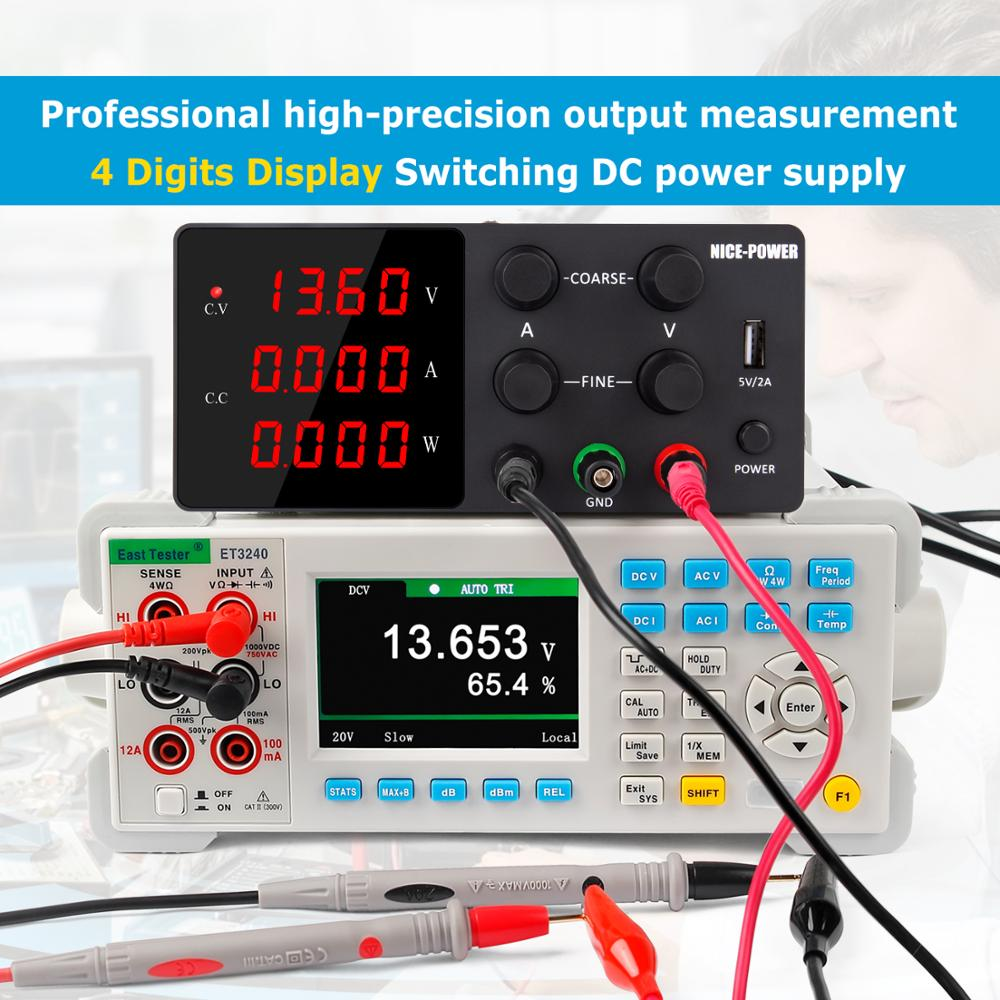 IVYTECH 120V 3A 60V 30V 10A 5A Adjustable Switching DC Lab Bench Power Supply LCD Screen Digital Regulated Modul Laboratory-4