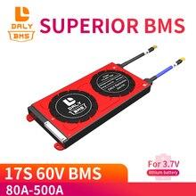 3.7V 60V ליתיום NMC סוללה BMS 17S 80A 100A 150A 500A PCM עם איזון עבור חשמלי רכב E אופני קטנוע שמש bms