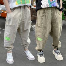Wiosenne spodnie dla dzieci spodnie dla chłopców spodnie dla dzieci na co dzień dla chłopców spodnie dla niemowląt spodnie zimowe dla dziewczynek odzież dla dzieci 3-14Y tanie tanio Stranglethorn COTTON REGULAR Unisex Kieszenie Pełnej długości Pasuje prawda na wymiar weź swój normalny rozmiar Elastyczny pas